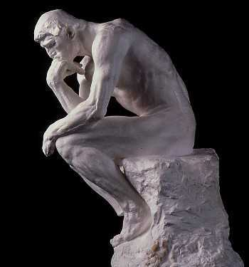 The Thinker, by Rodin 1902.