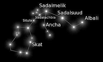 The Aquarius constellation.